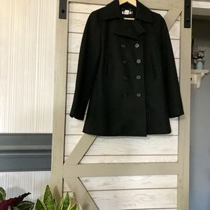 ***J.Crew Double breasted wool-blend trench***